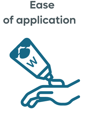 Ease of application hand icon